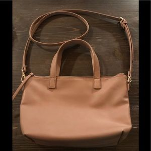 Mossimo blush/nude handbag with Crossbody strap